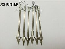 "6Pk 6.3"" Stainless steel singshot fishing arrows crossbow arrows"