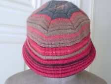 Beautiful MISSONI Soft Structured Lined Hat Wool/Mohair SIZE M Lined ITALY