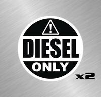 2 Diesel Only Fuel Vinyl Decal Sticker Truck Fuel Tank Label Warning Farm