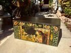 Antique Chinese Black Lacquered Handpainted Blanket Chest Trunk {item 2}