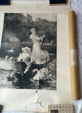 Vintage / Antique Print BOVRIL 'Home of the Swans' Fred Morgan C.W. Faulkner