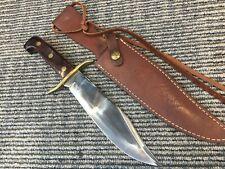 Western U.S.A.~ W47~ BOWIE HUNTING & FIGHTING KNIFE +ORIG. SHEATH 1990's
