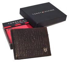 Men's Tommy Hilfiger Textured Leather Lite Brown Tan Pocket Wallet
