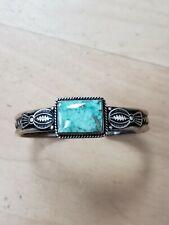 turquoise cuff bracelet Gene Nataan sterling