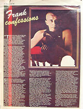 FRANKIE GOES TO HOLLYWOOD A4 Poster Sheer Nov 26th 1983 'Frank Confessions'