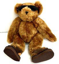 Vermont Teddy Bear Co Plush Summer Sunglasses Sandals Stuffed Animal Collectable