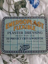 BOOTS EMERGOPLAST FLEXIBLE PLASTER DRESSING TIN VINTAGE