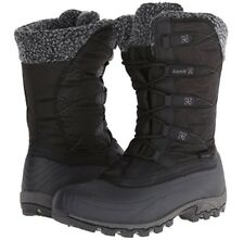 WOMEN KAMIK FORTRESS BLACK WATERPROOF WINTER SNOW BOOTS SIZE  8