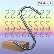 24 x Large Strong Steel S Hooks 12.5cm / 5 Inch Universal Market Stall Hangers