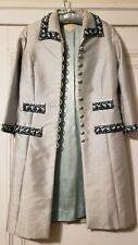 1960s Handmade Raw Silk Coat With Beading