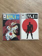 Rai Valiant Comics #0 & #1 High Grade First Bloodshot 1992 No Marvel rare bande dessinée