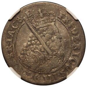 1698 SD Germany Brandenburg 18 Groschen Silver Coin - NGC XF 40 - KM# 611