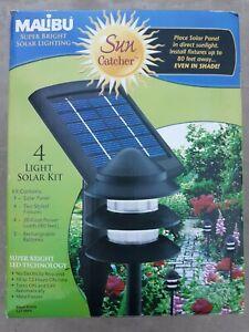 New Malibu Solar Sun Catcher 4 Light Kit NIB Black Finish
