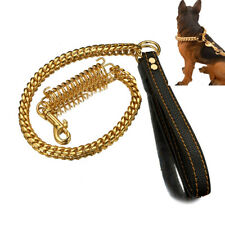 Pet Spring Buffer Large Dog Traction Rope Explosion-proof Thick Steel P Chain