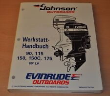 Johnson EVINRUDE EO 60° LV 90 - 175 PS 1994 Außenbordmotor Werkstatthandbuch OMC