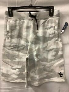 Abercrombie Kids Boys Green Elastic Waist Flat Front Casual Shorts Size 15/16