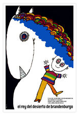 "Movie Poster 4 film""King of Horse""Children Decoration art.Branderburg.Decor."