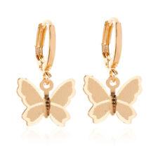 1 Pair Elegant Woman Girls Stainless Steel Butterfly Ear Stud Drop Earrings
