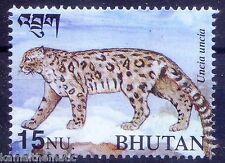 Bhutan MNH, Wild Animals, Snow leopard, Uncia uucia -  A3