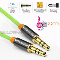 High Quality AUX Cord 3.5mm male to male Cable for Car AUX/Headphone/MP3-2M/ 6ft