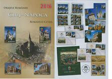 Rumänien 2016 Rumänische Städte,CLUJ-NAPOCA Mi.7105-08,Zf.,KB,Block 678,FDC