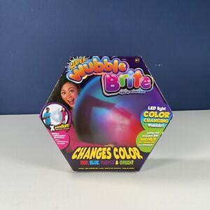 NEW - SUPER Wubble BRITE LED Light Color Changing BUBBLE BALL