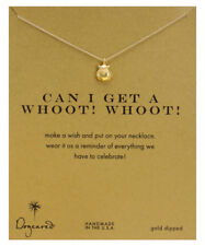 Dogeared Gold Dipped Reminder Necklace - Can I Get a Whoot! Whoot!