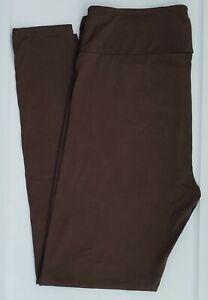 OS LuLaRoe One Size Leggings Beautiful Solid Chocolate Brown Rare ! NWT 09