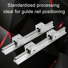 2Pcs 300mm Fully Supported Linear Rail Shaft+4x SBR12UU Bearing Slide Blocks gbd