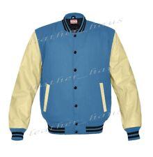 SUPERBE Authentique Housse en cuir et laine mélangée Letterman College Varsity Vestes