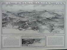 1914 LIEGE SPECIAL WAR MONOGRAPH PANORAMA WWI WW1 DOUBLE PAGE