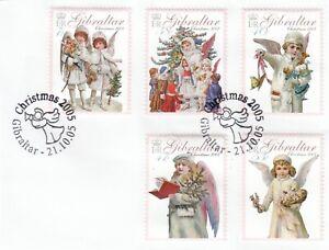 (89882) Gibraltar Used Christmas 2005 ON PIECE