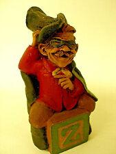 "Vintage Alphabet Wooden Block Figurine ""Z"" by Tom Clark Gnome Zorro #6260 69"