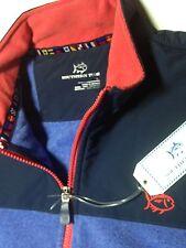 NWT Southern Tide Men's Navigational Navy Blue Full Zip Combo Fleece Vest LARGE