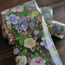 Purple Flower Green Leaf Nail Art Polish Glue Transfer Foil for Nail Decor YC453