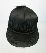Disney CAPTAIN HOOK Hat Cap Snapback Black Satin Cord Embroidered NWT
