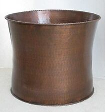 """Solid Copper Planter Curved 15.25""""W x 12""""H Stocked in 3 sizes"""