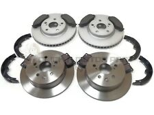 FRONT & REAR BRAKE DISCS & PADS SET & HANDBRAKE SHOES FOR LEXUS IS220 IS220d