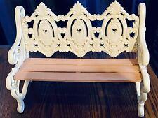 VINTAGE BURWOOD PRODUCTS BENCH SHELF WALL HANGING RARE PIECE MAUVE CREAM