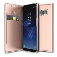 Handy Hülle Samsung Galaxy S8 Book Case Schutzhülle Tasche Slim Flip Cover