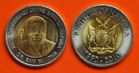 NAMIBIA - NEW ISSUE BIMETAL 10$ UNC COIN 2010 YEAR
