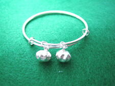 925 Sterling Silver Baby Bangle & Bells