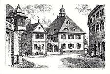 Riegel am Kaiserstuhl - Rathaus - Kunstdruck von Ernst Albrecht - um 1950 (?)