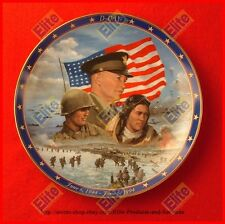 """World War II: A Rememberance Collectors Plate """"D-Day"""" by Bradford Exchange"""
