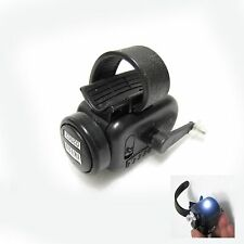 High Sensitive Fishing Bite Bell Alarm LED Light Rod Tip Fishing Indicator Black