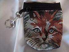 Artisan Treasures Handcrafted Longhair Orange Cat Tapestry Belt Pack New