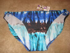 Island Escape Swimwear Size 14 Womens New Shaper Pant Bikini Bottoms Aqua Multi