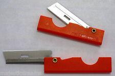 Pocket Razor -  ORANGE Handle Knife - Paracord Cutter