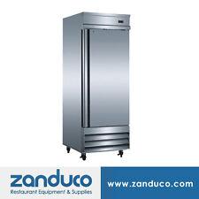 "Zanduco 20.6 Cu. Ft. 29"" Stainless Steel Single Door Reach-In Refrigerator"