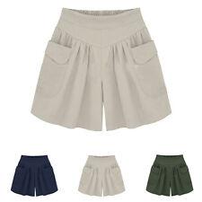 L-4XL Women Plus Size Loose Hot Pants Summer Casual Shorts Sport Beach Girl Pant